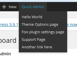 Quick Admin WordPress Plugin