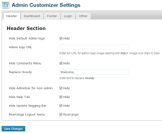 Admin Customizer WordPress Plugin
