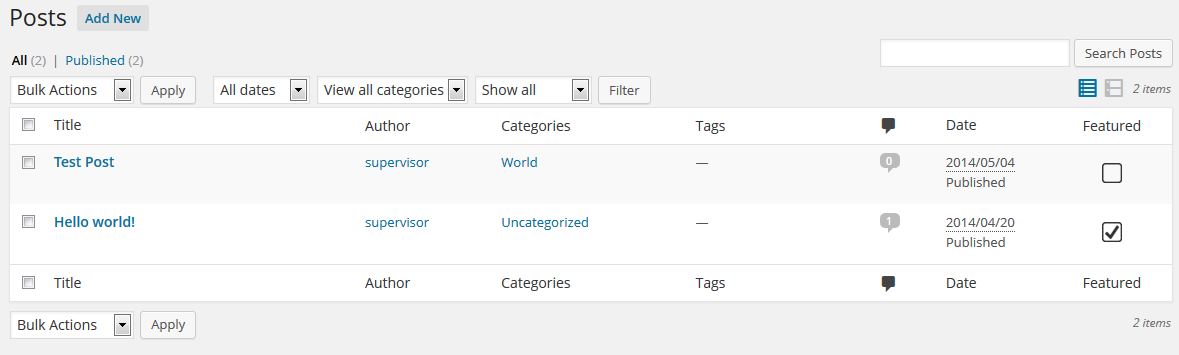NS Featured Posts WordPress Plugin