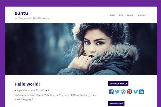 Buntu Free WordPress theme