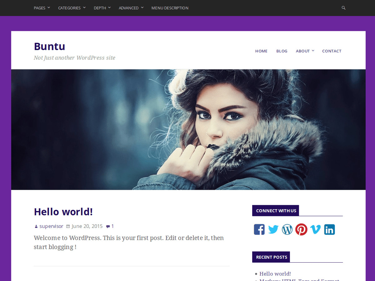 Buntu:  Free WordPress Theme
